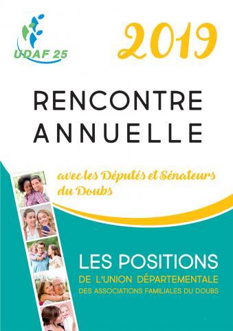 UDAF25 - rencontre annuelle avec les parlementaires du Doubs